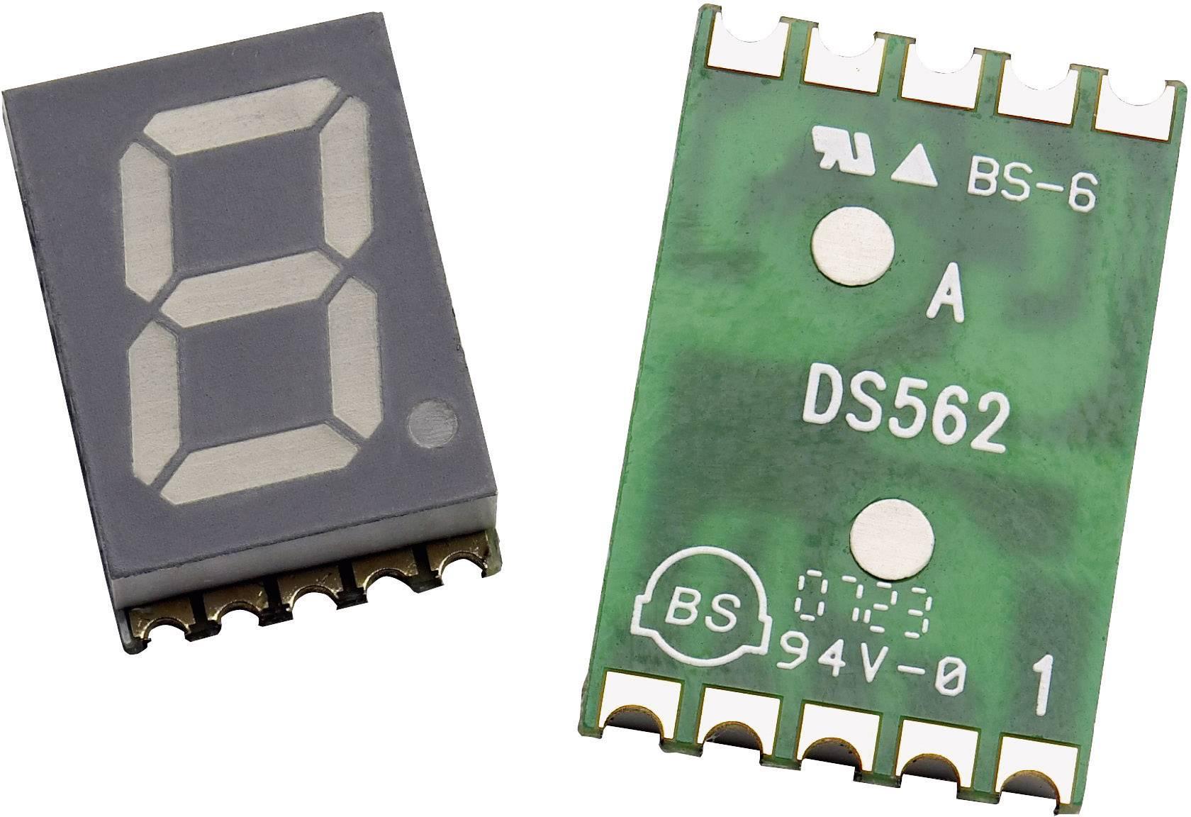 7-segmentový displej Broadcom HDSM-433H, číslic 1, 10 mm, 2.1 V, zelená
