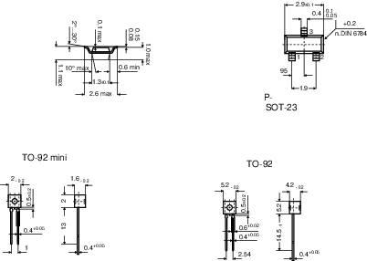 PTC senzor, série KT Infineon KT130, SOT 23