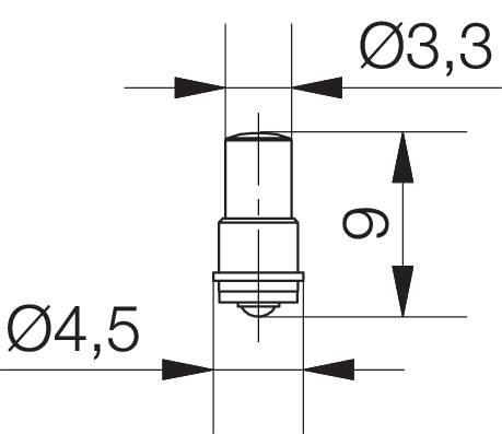 LEDžiarovka Signal Construct MWCF3564, MF/T 3/4, SX4s, 24 V/DC, 375 mcd, biela