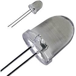 LED dioda kulatá s vývody, LED-10-40.000W, 30 mA, 10 mm, 3,6 V, 20 °, 40000 mcd, bílá