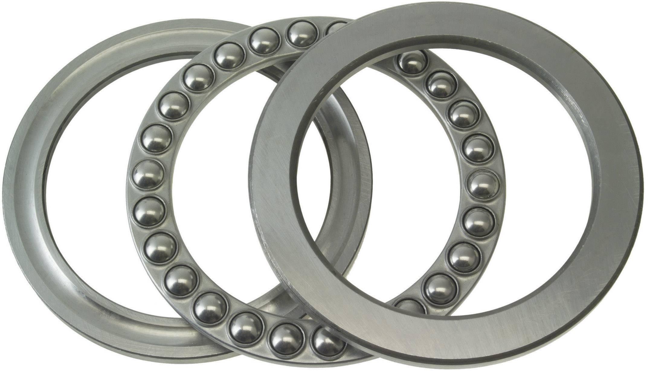 Axiálne guľôčkové ložisko FAG 51305, Ø otvoru 25 mm, vonkajší Ø 52 mm