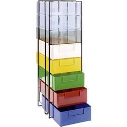 ESD skříňka se zásuvkami Licefa A4-70/11, (d x š x v) 252 x 190 x 610 mm, chrom