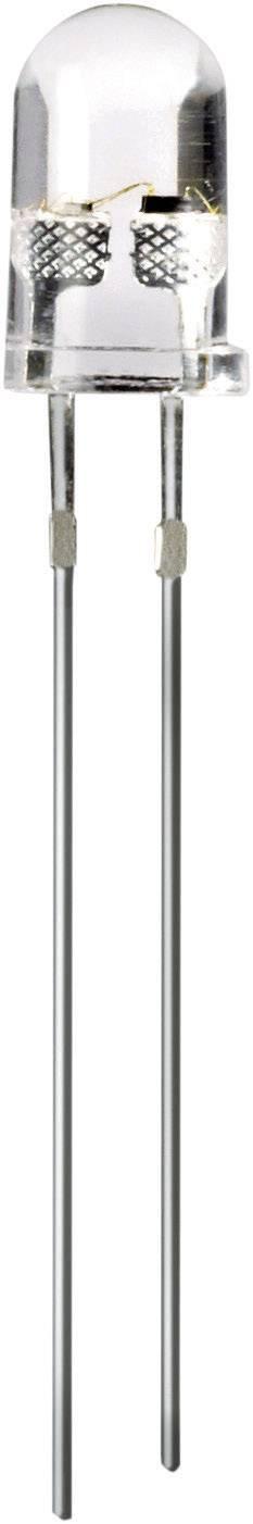 LEDsvývodmi Thomsen CandleLED, typ čočky guľatý, 5 mm, 50 °, 20 mA, 2180 mcd, 6500 mcd, 3.3 V, žltá