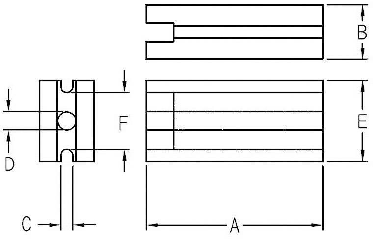 Distanční držák LED KSS LE-3 Transparent, 3,6 mm
