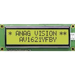 LCD displej 16x2 Anag Vision, AV1621YFBY-SJ, 13,5 mm, Anag V, černá, zelená/žlutá