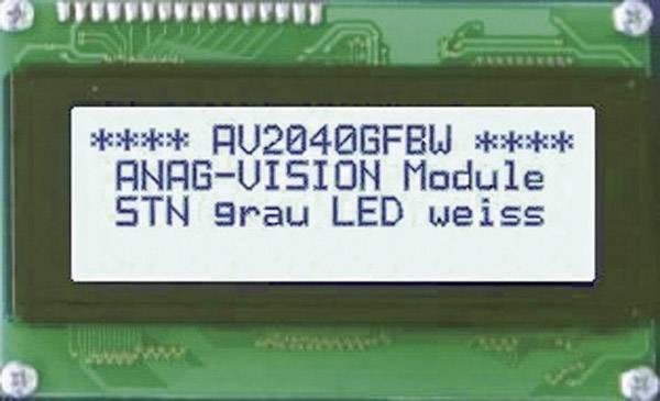 LCD displej Anag Vision AV1611GFBW-SJ AV1611GFBW-SJ, AV1611GFBW-SJ, (š x v x h) 122 x 33 x 13.5 mm, sivá, biela