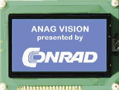 Grafický displej Anag Vision AV241282BNBW-WTV AV241282BNBW-WTV, AV241282BNBW-WTV, (š x v x h) 144 x 104 x 14.3 mm, biela, modrá