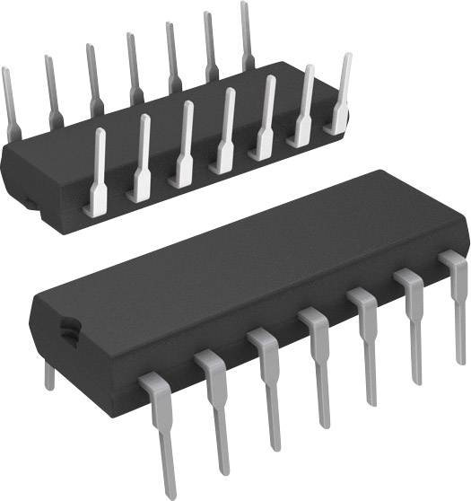Logický IO - invertor Texas Instruments SN74LS06N, invertor, 74LS, PDIP-14