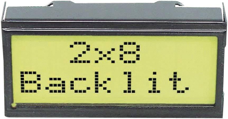LCD displej EADIPS082-HNLED EADIPS082-HNLED, EA DIPS082-HNLED, (š x v x h) 40 x 20 x 10.8 mm, čierna, žlutozlená