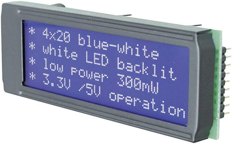 LEDmodul EA DIP203B-4NLW EADIP203B-4NLW, DIP204B-4NLW, (š x v x h) 75 x 26.8 x 10.8 mm, biela, modrá
