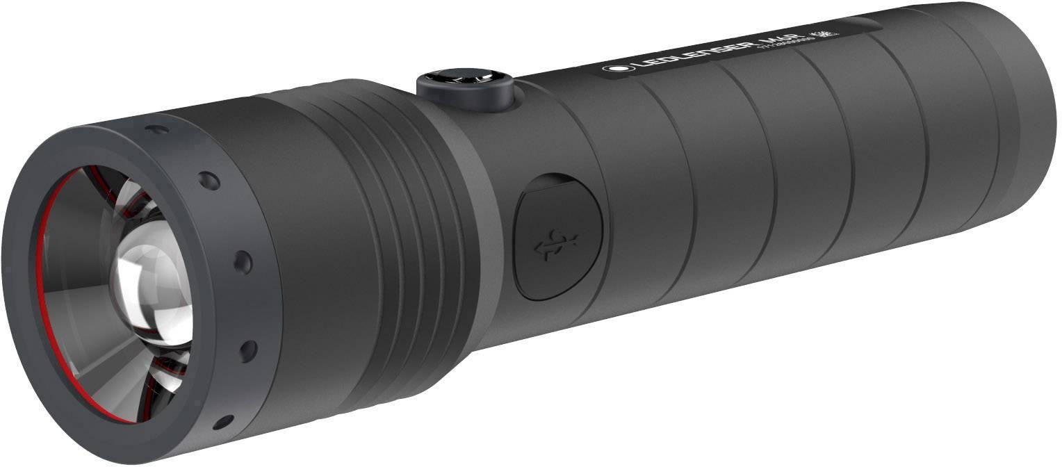 LED kapesní svítilna Ledlenser M6R 501964, 253 g, napájeno akumulátorem, černá, antracitová