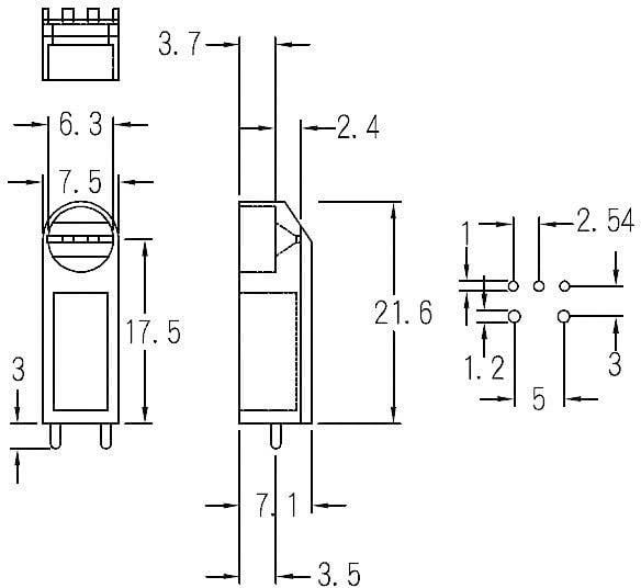 Distanční držák LED KSS LG3-18 Natur, 5 mm