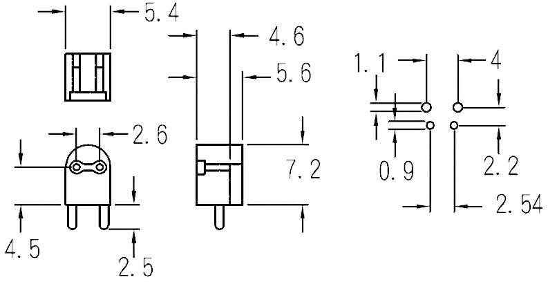 Distanční držák LED KSS LH-4 Natur, 5 mm