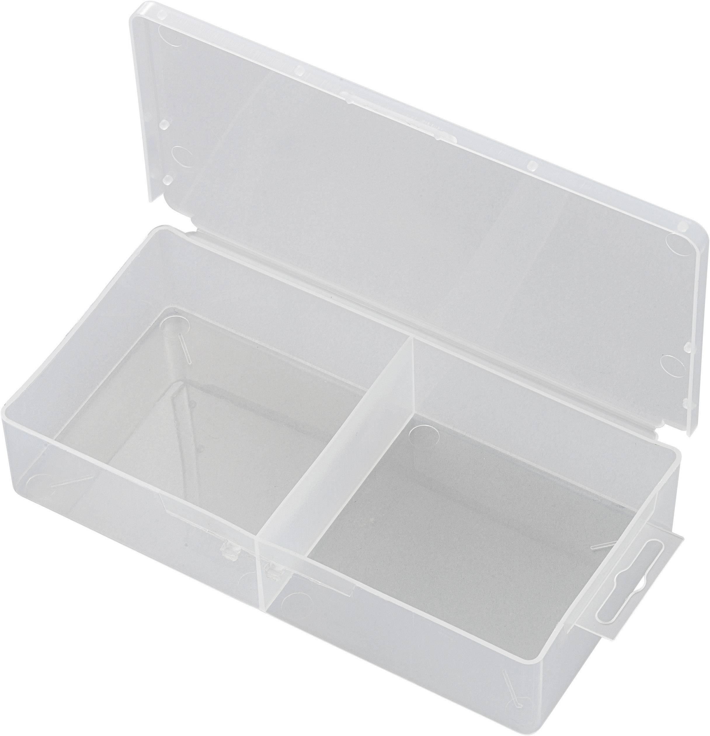 Krabička na malé součástky TRU COMPONENTS, SG817-02, 1566599, přihrádek: 2, 173 x 86 x 35 , transparentní (difuzní)