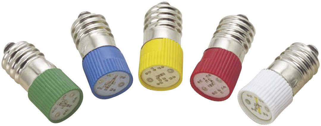 LED žárovka E10 Barthelme, 70113162, 24 V, 0,6 lm, modrá