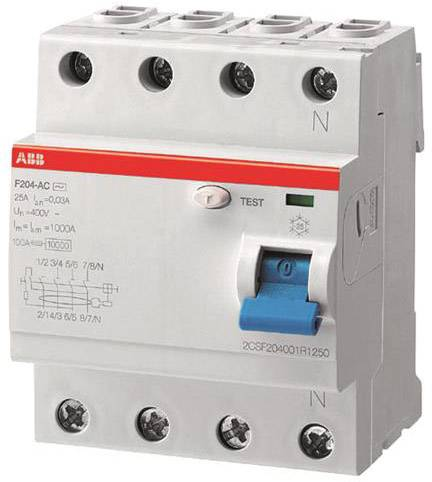 Ochranný proudový spínač ABB 2CSF204101R1630, 63 A, 0.03 A, 230 V