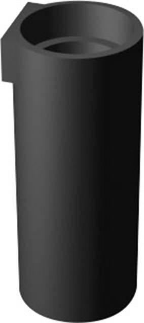 Distanční LED držák, Ø7 mm, 6 mm, vhodný pro LED 5 mm, černá