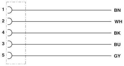 Připojovací kabel pro senzory - aktory Phoenix Contact SAC-5P- 3,0-115/M 8FSB 1404471, 1 ks