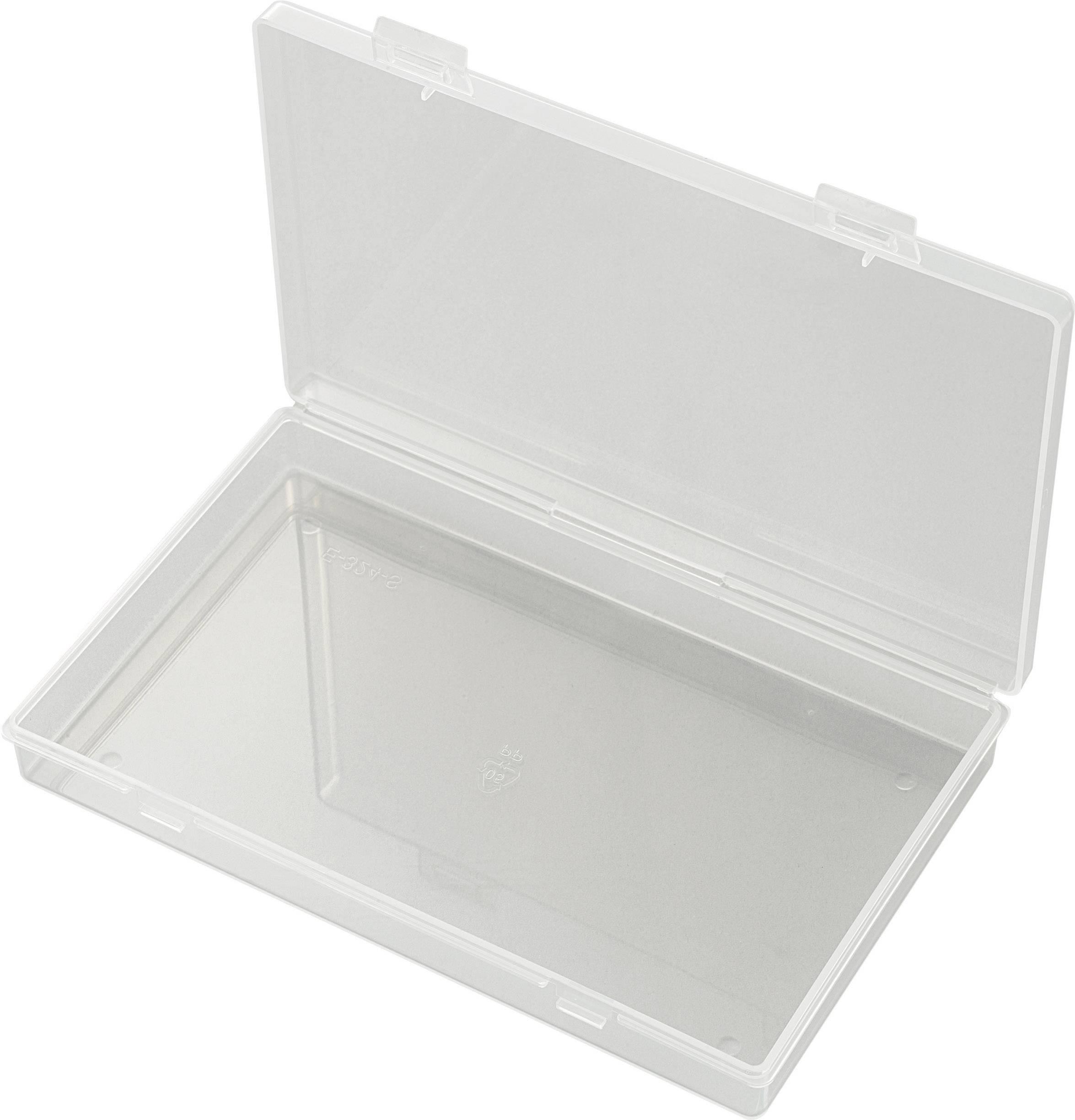 Krabička na malé součástky TRU COMPONENTS E-324-S, 1566892, přihrádek: 1, 176 x 110 x 26 , transparentní (difuzní)