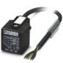 Ventilová zástrčka s nastříkaným těsněním vedení 1438639 Phoenix Contact 1438639 SAC-5P- 5,0-PVC/AD-2L, černá, 1 ks