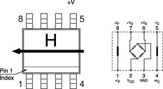 Senzor magnetického pole Philips
