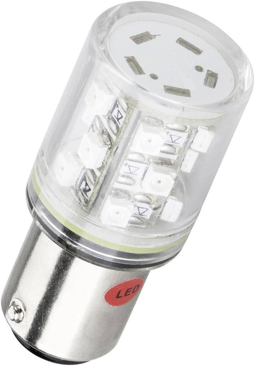 LEDžiarovka Barthelme 52160211, BA15d, 24 V/DC, 24 V/AC, 10 lm, červená