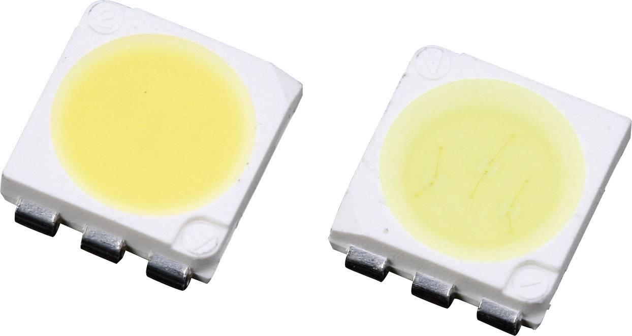 SMD LED PLCC6 Lumimicro, LMTP553AWZ Si, 20 mA, 2,8 V, 120 °, 7500 mcd, jantarově bílá