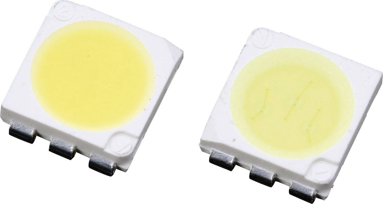 SMD LED PLCC6 Lumimicro, LMTP553YWZ Si, 20 mA, 2,8 V, 120 °, 7500 mcd, žlutobílá