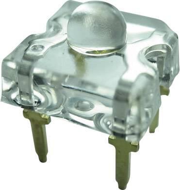 LEDsvývodmi Yoldal YSF-B319EY, typ čočky pravouhlý, 7.6 x 7.6 mm, 50 °, 30 mA, 3.2 V, modrá