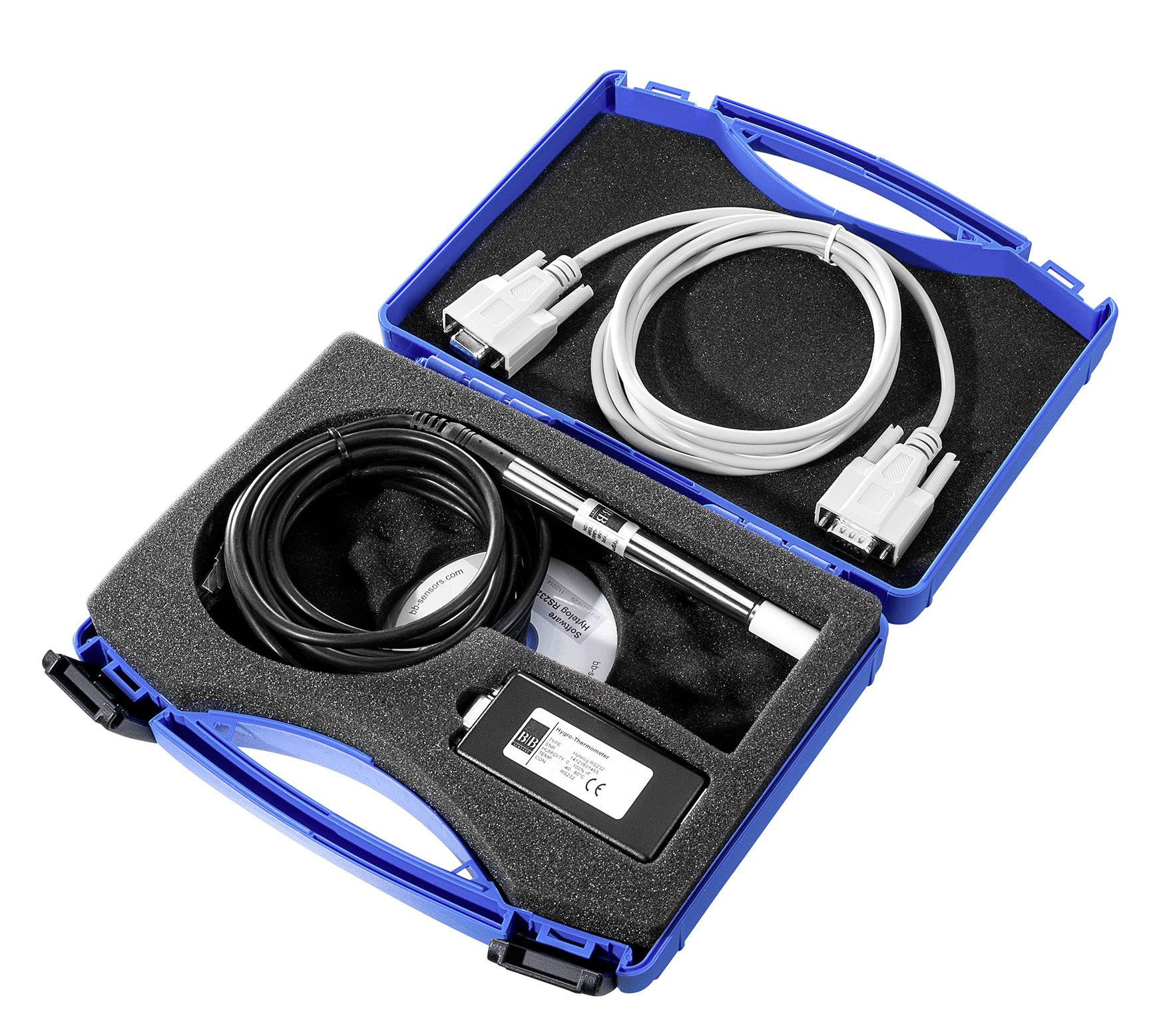 Nerezový teplotní/vlhkostní senzor B & B Thermotechnik CON-HYTE-LOG-USB, rozhraní USB
