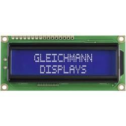 LCD displej Gleichmann GE-C1602B-TFH-JT/R, 5.55 mm