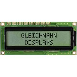 LCD displej Gleichmann, GE-C1602B-CFH-JT/R, 13,2 mm