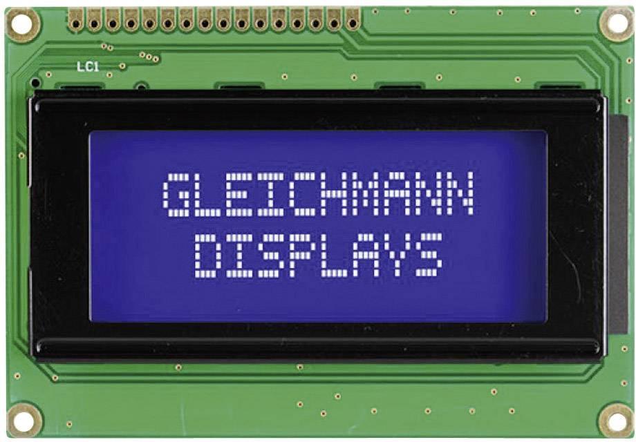 LCD displej Gleichmann, GE-C1604A-TMI-JT/R, 13,6 mm, bílá/modrá