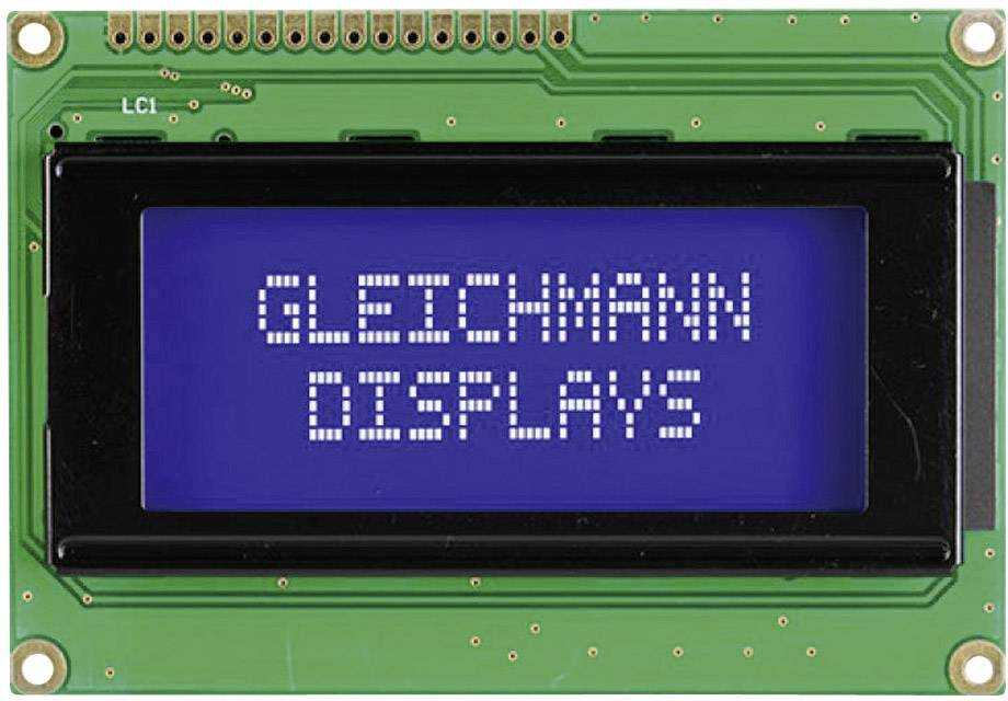 LCD displej Gleichmann GE-C1604A-YYH-JT/R GE-C1604A-YYH-JT/R, (š x v x h) 87 x 60 x 13.6 mm, čierna, žlutozlená