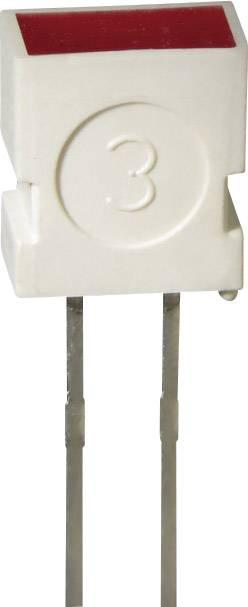 LEDsvývodmi Kingbright L-1043 GD, typ čočky pravouhlý, 3.65 x 6.15 mm, 100 °, 20 mA, 4 mcd, 2 V, zelená