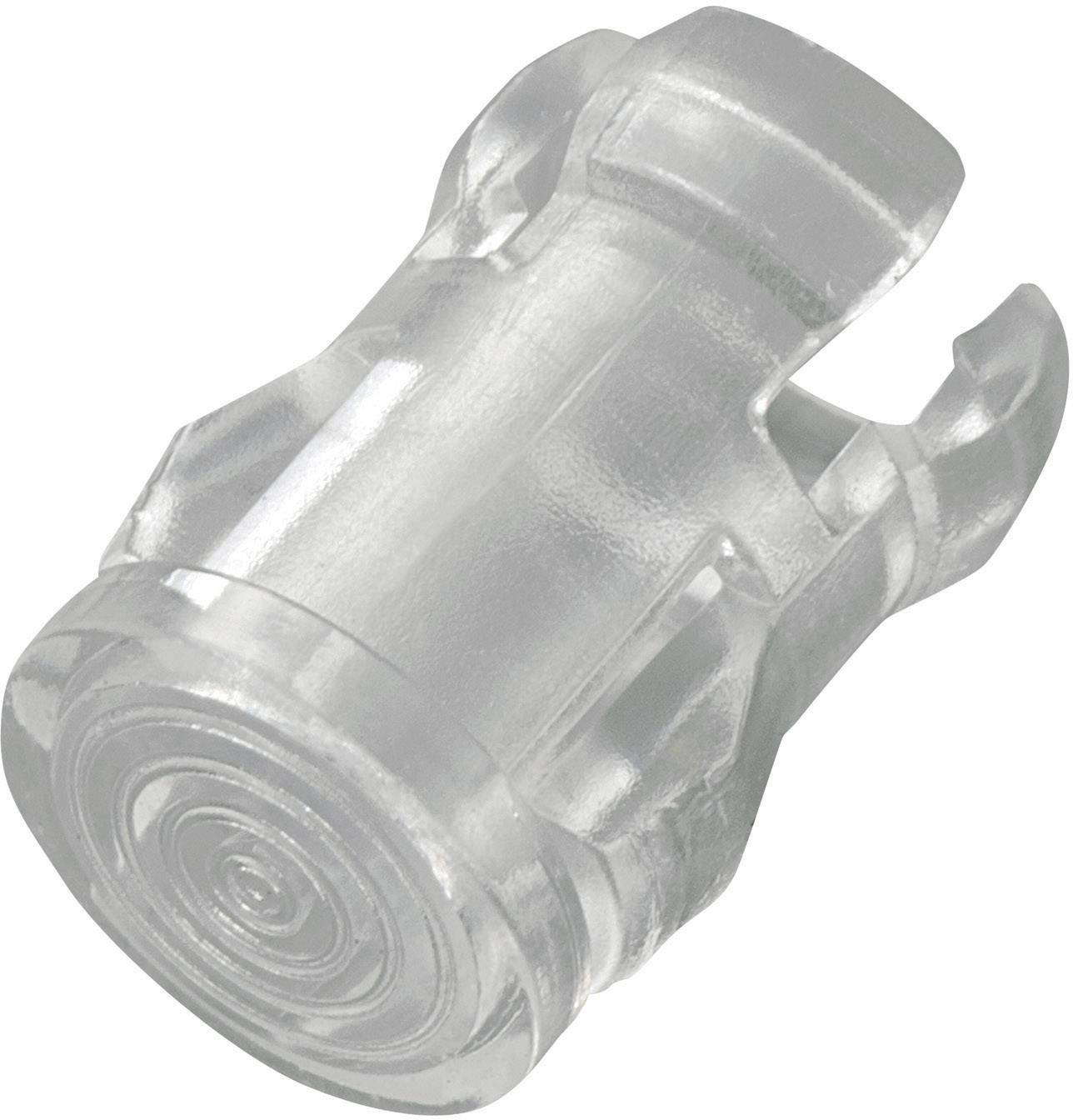 Světelná krytka, EDK-5A-PCW, 5 mm, (Ø x v) 7 mm x 10.9 mm, transparentní