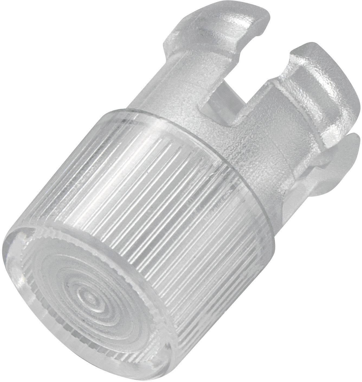 Světelná krytka, EDK-1A-PCW, 5 mm, (Ø x v) 7 mm x 11 mm, transparentní