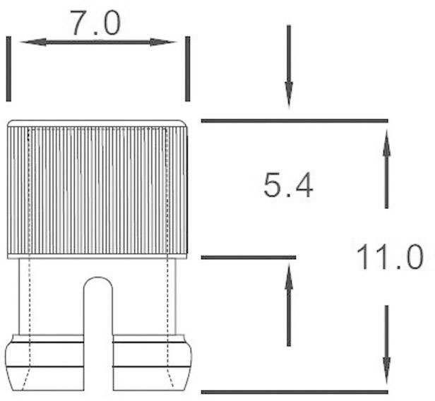 Svetelný poklop 183120, priehľadná, vhodný pre LED 5 mm