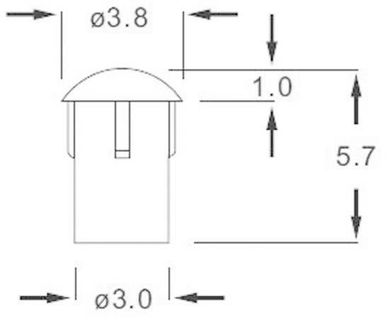 Světlovod LEAD-18PZW, 3.8 mm x 5.7 mm