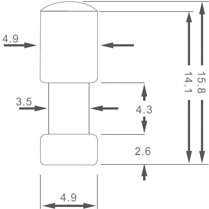 Světlovod LEAD-20PZW, 4.9 mm x 15.8 mm