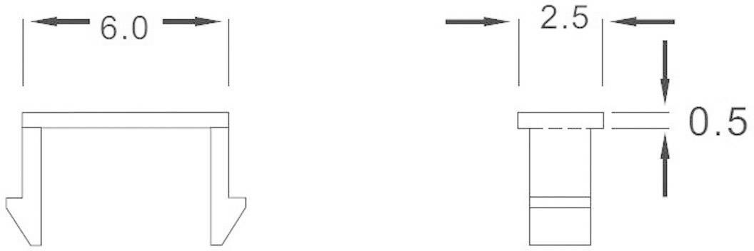 Flexibilní světlovod BHB-06-PCW, 6 mm x 2.5 mm