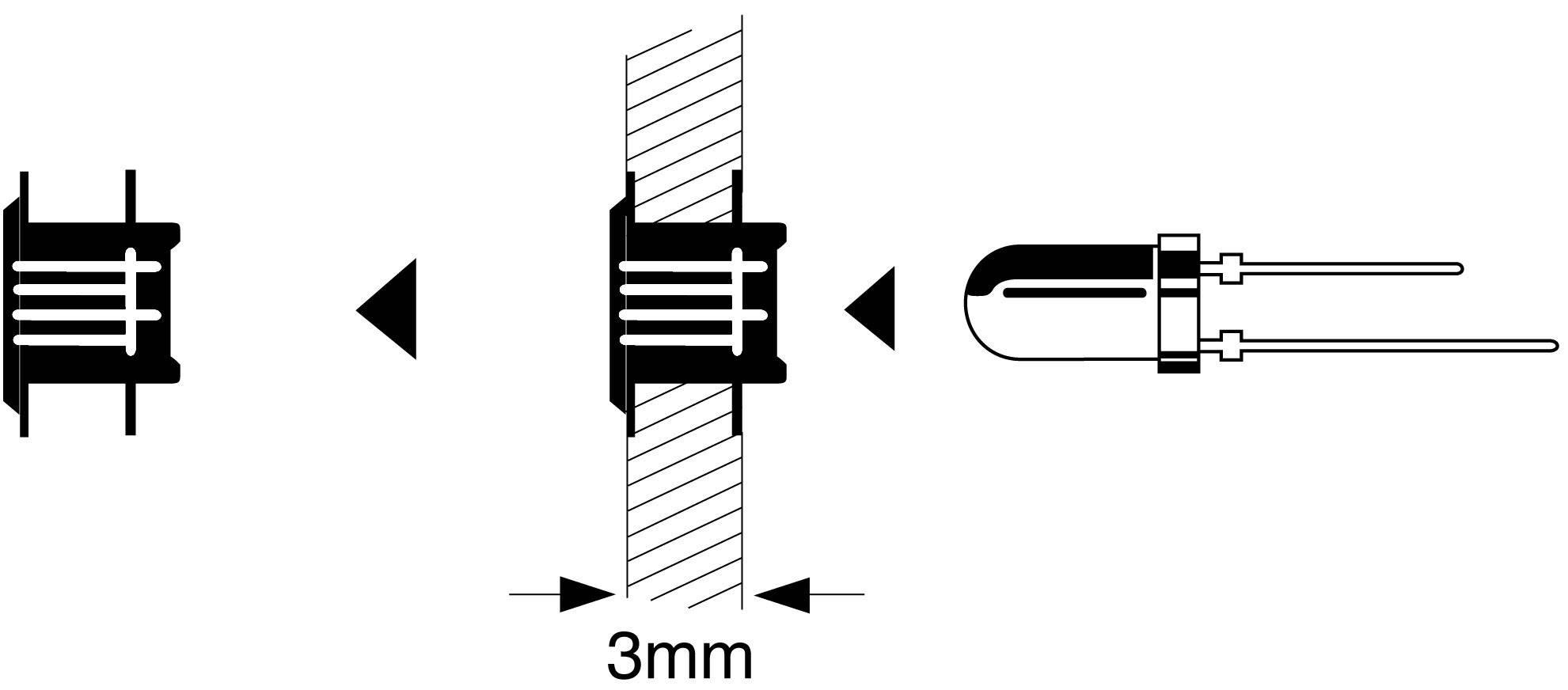 Montážní klip pro LED 5 mm
