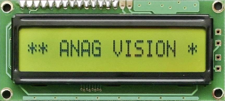 LCD displej 184071, (š x v x h) 80 x 36 x 13.5 mm, čierna, žlutozlená
