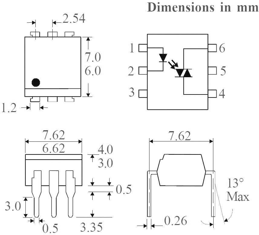Optočlen Isocom Components MOC3023XSMT/R