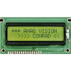LCD displej 8x2, 13 mm, černá, zelená/žlutá