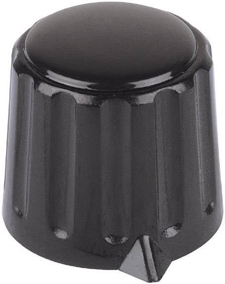 Otočný gombík Mentor 4311.6131, (Ø x v) 20 mm x 17 mm, čierna, 1 ks