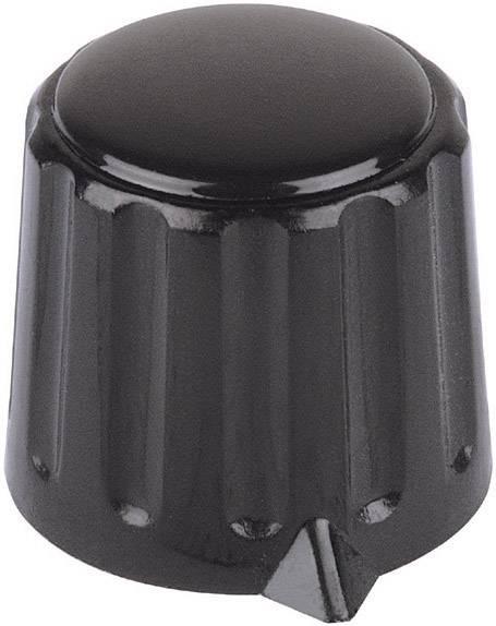 Plastový otočný knoflík (s kleštinovým uchycením) Mentor 4312.6131, 6 mm, černá