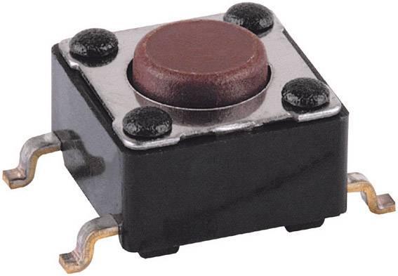 SMD tlačítko Mentor, 1254.1004, 12 V DC/AC, 0,05 A, vyp./(zap.), kulaté, černá