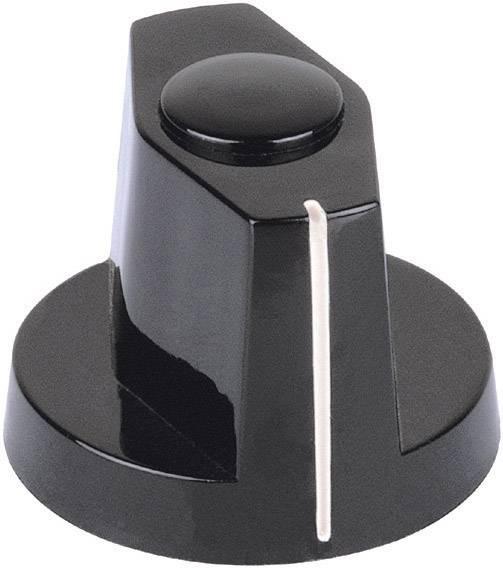 Otočný gombík Mentor 353.61, (Ø x v) 25 mm x 20 mm, čierna, 1 ks