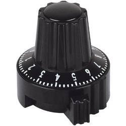 Otočný knoflík s aretací a se stupnicí Mentor 4331.6032, 6 mm, černá